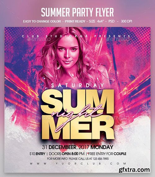 GraphicRiver - Summer Party Flyer 23619701