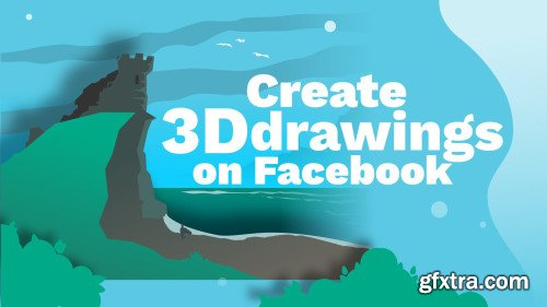 Create 3D drawings on Facebook with Inkscape!