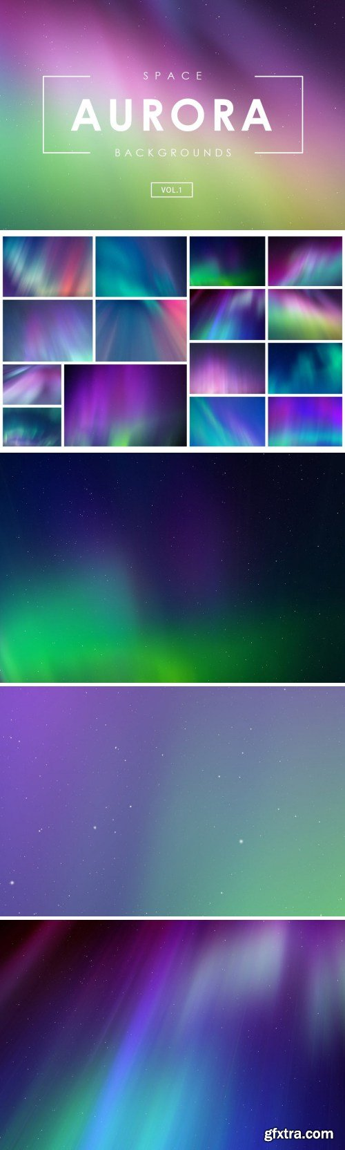 Aurora Space Backgrounds Vol.1