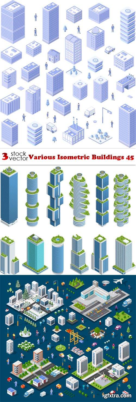 Vectors - Various Isometric Buildings 45