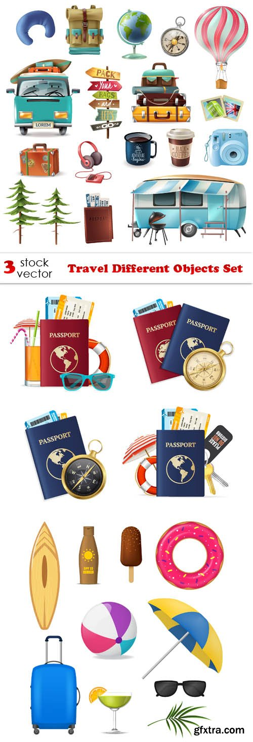 Vectors - Travel Different Objects Set