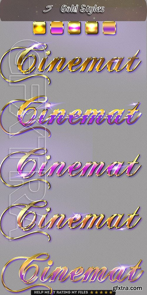 GraphicRiver - Realistic Gold Cinematic Text Effect 4 23631311