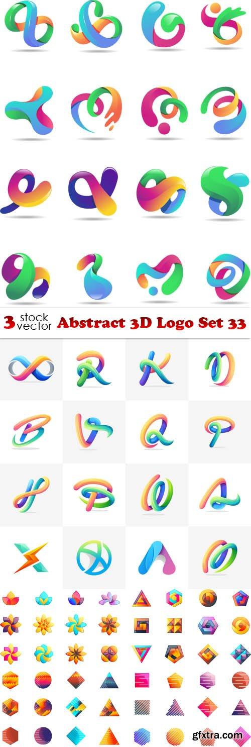 Vectors - Abstract 3D Logo Set 33