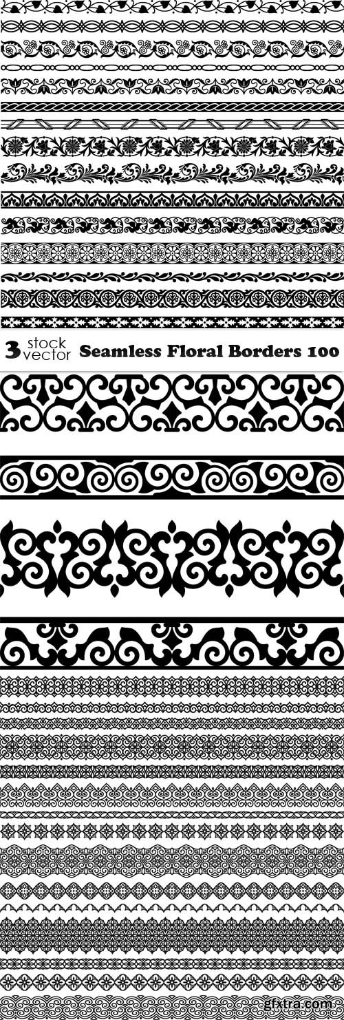 Vectors - Seamless Floral Borders 100