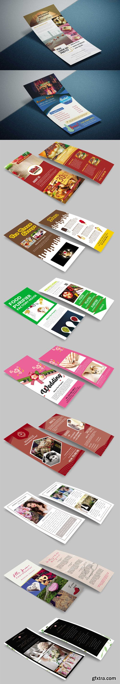 10+ Premium Rack Cards PSD Templates Collection