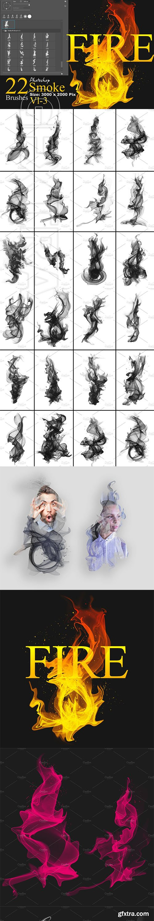 CreativeMarket - Smoke Photoshop Brushes 3678200