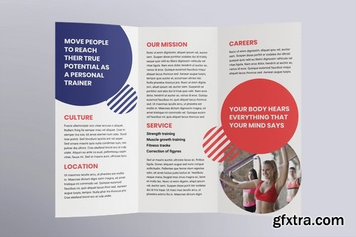 Fitness Trainer Coach Brochure Trifold