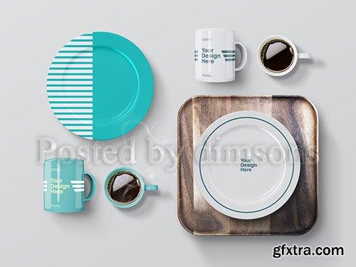 Mugs and Plates Mockup 257701765