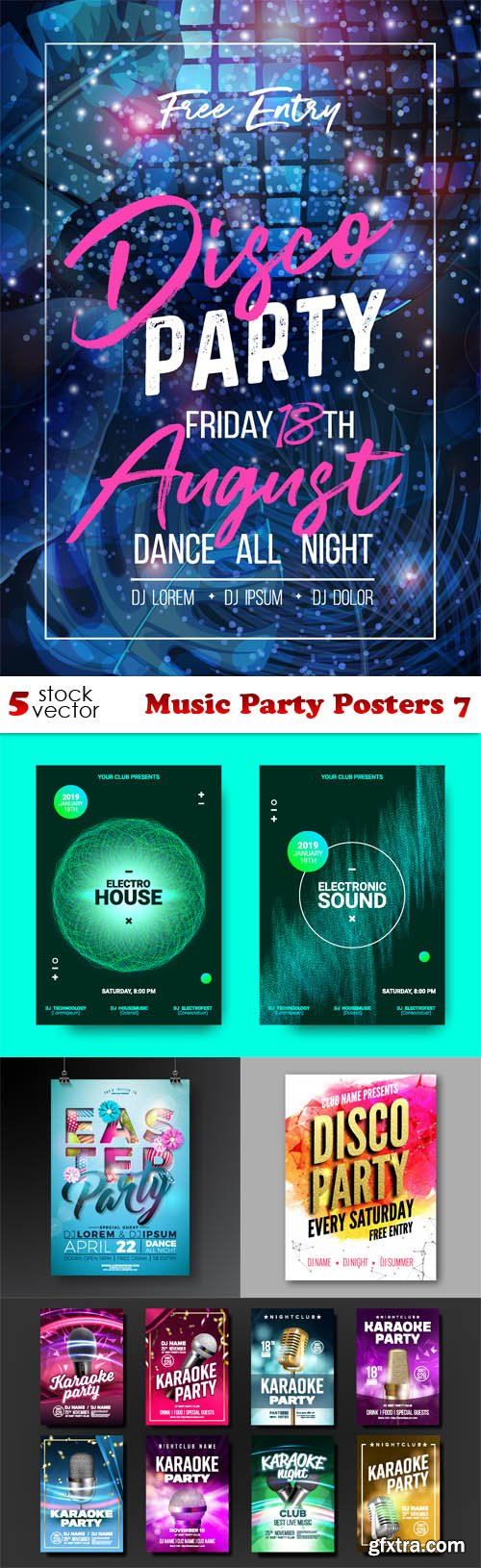 Vectors - Music Party Posters 7