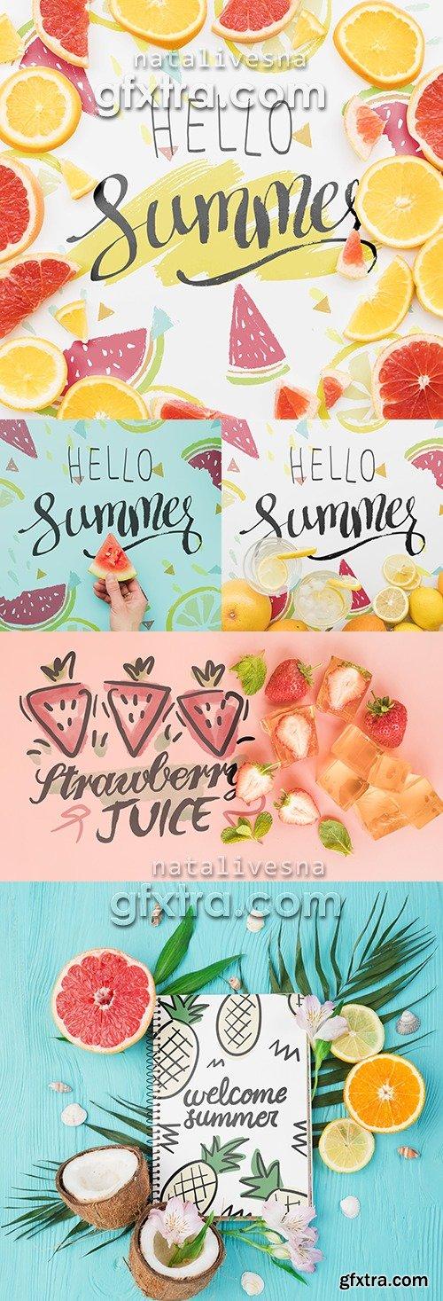 Hello Summer design Mockup Pack
