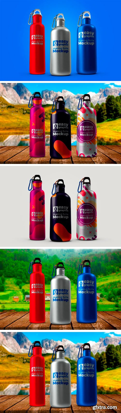Aluminium Bottle Mockup 1227217