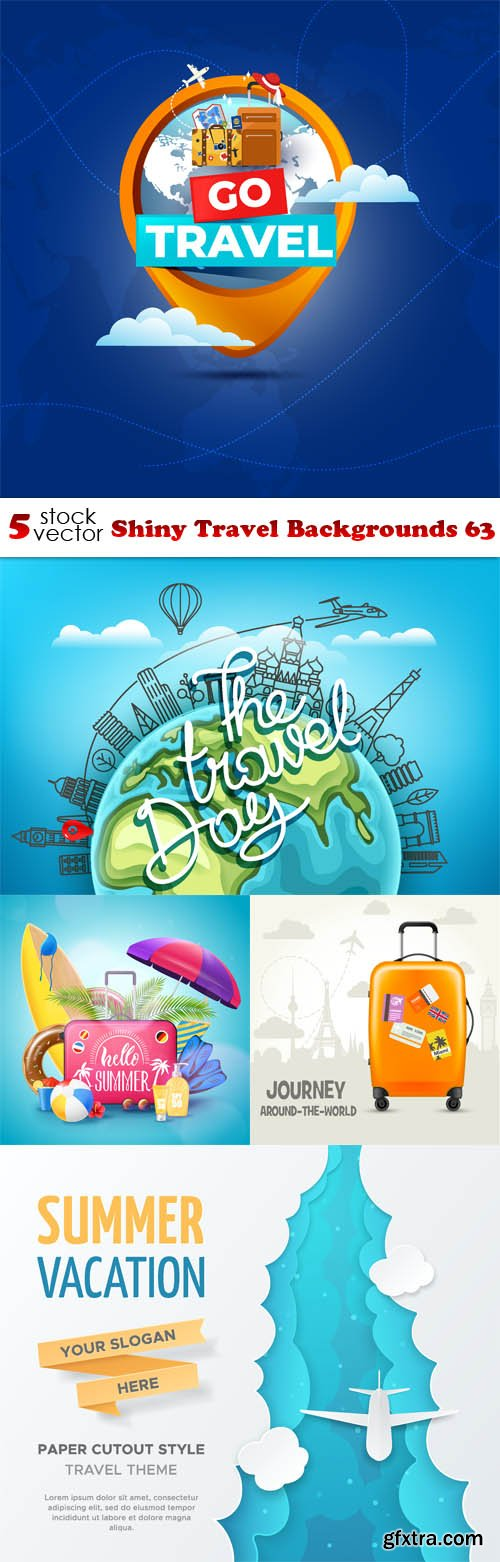 Vectors - Shiny Travel Backgrounds 63