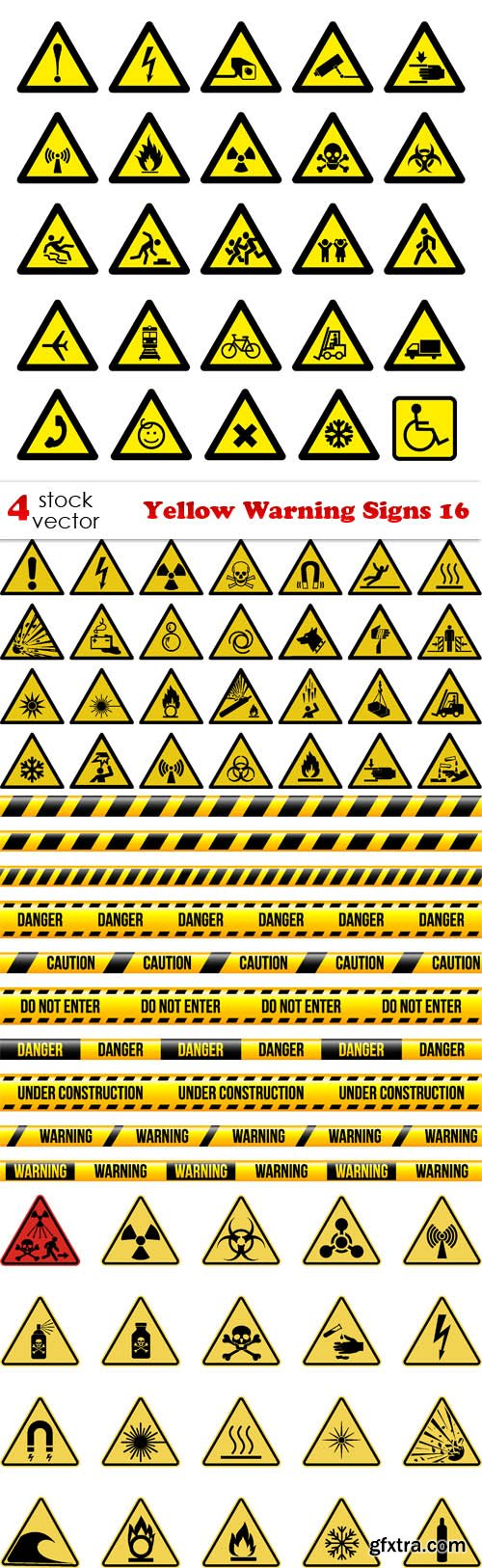 Vectors - Yellow Warning Signs 16