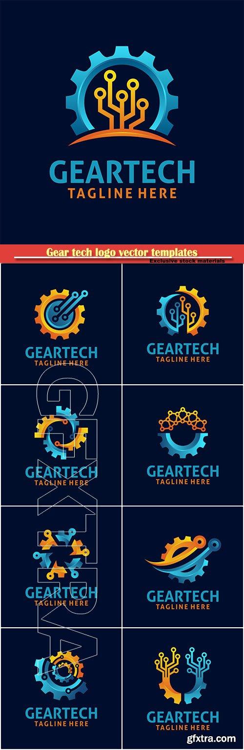 Gear tech logo vector templates