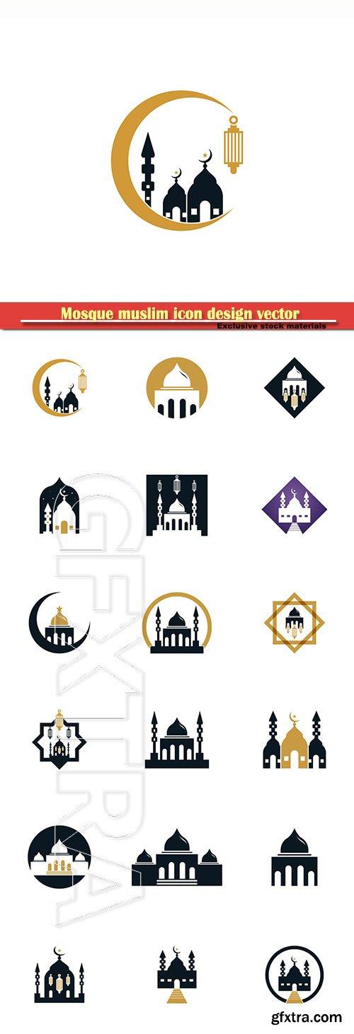 Mosque muslim icon design vector illustration