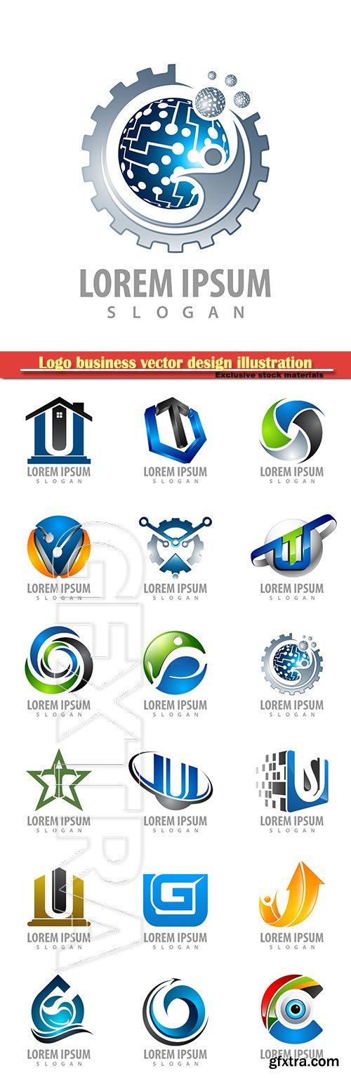 Logo business vector design illustration # 92