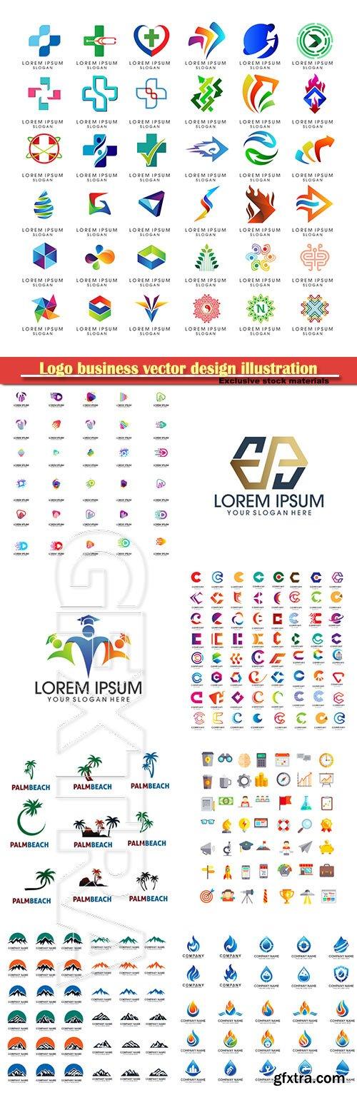 Logo business vector design illustration # 93