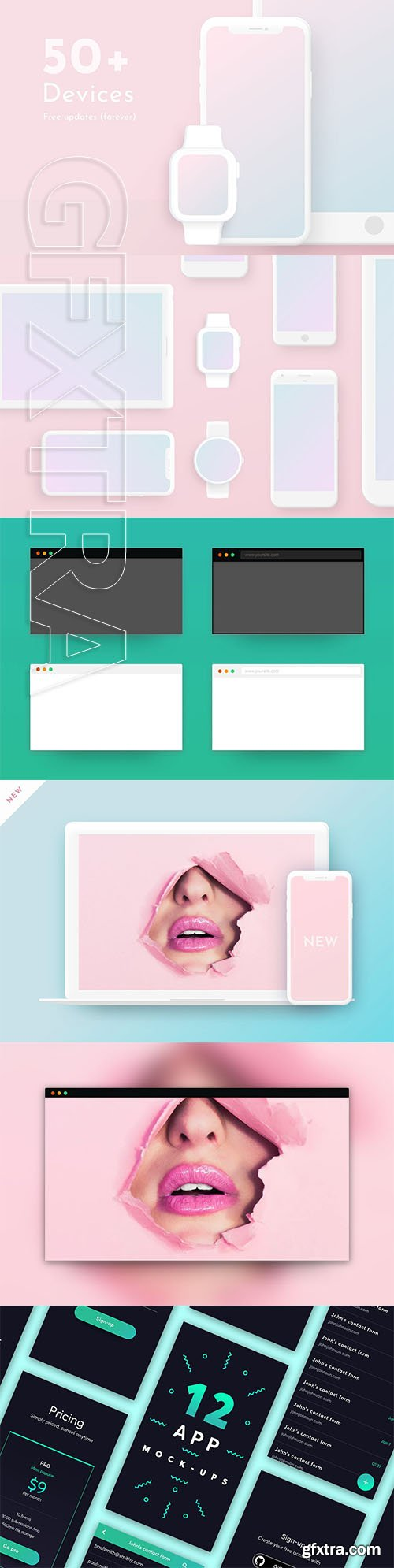 CreativeMarket - All Minimal Mock-ups One bundle 3715679