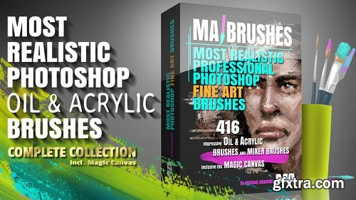 Realistic Photoshop Oil & Acrylic Brushes