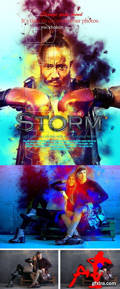GraphicRiver - Storm Photoshop Action 23605030