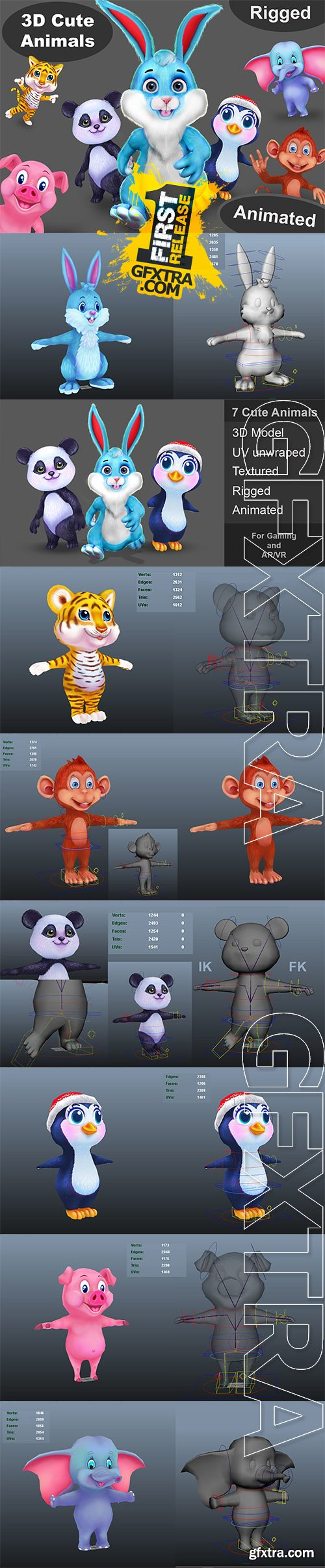 Cgtrader - Animal pack v7 Low-poly 3D model