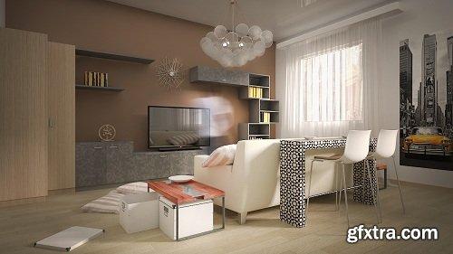 Modern Living Room 103 Interior Scene
