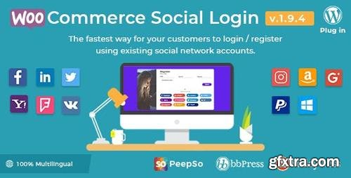 CodeCanyon - WooCommerce Social Login v1.9.4 - WordPress Plugin - 8495883