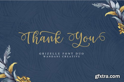 Hello Grizelle Duo Font Family - 2 Fonts