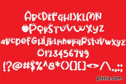 Strawberry Pillow Font