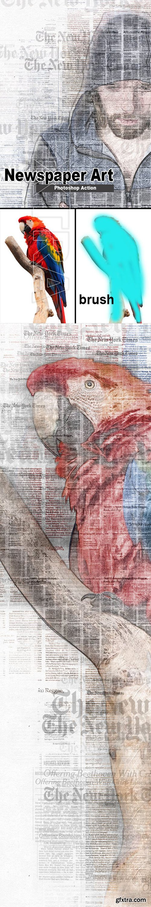 GraphicRiver - Amazing Newspaper Art Photoshop Action 23310693