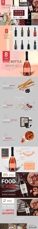 CreativeMarket - Wine and Food Scene Creator Bundle 3441527