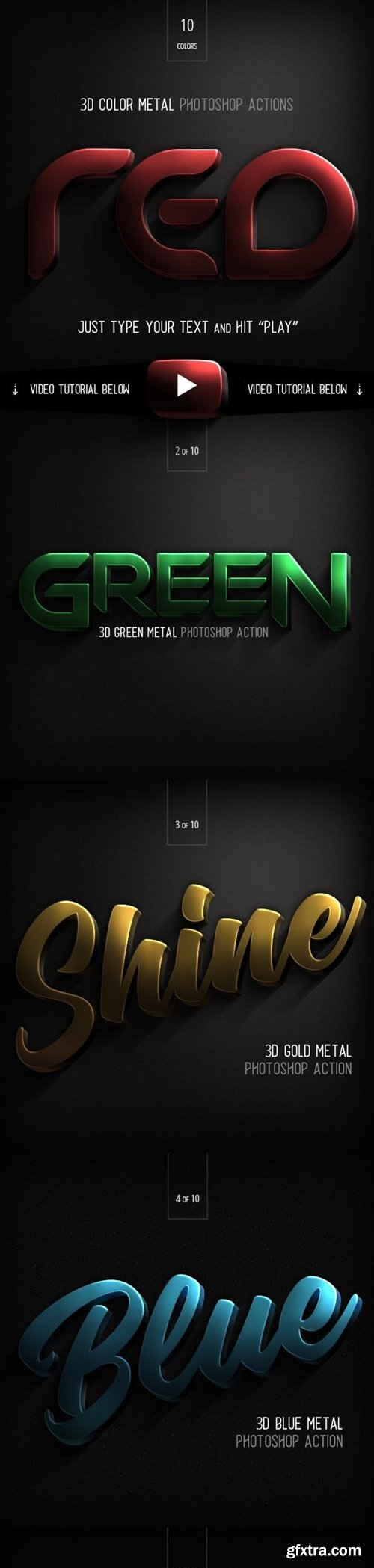 Graphicriver - 3D Color Metal - Photoshop Action 22968543
