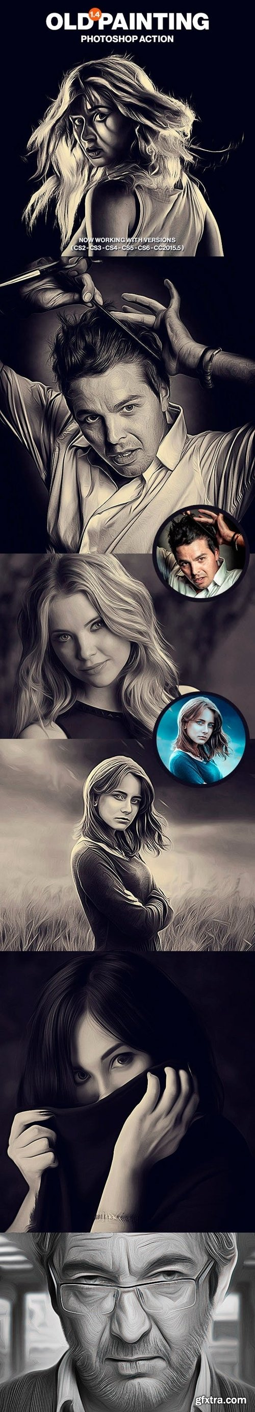 Graphicriver - Old Painting Photoshop Action v1.4 14682081