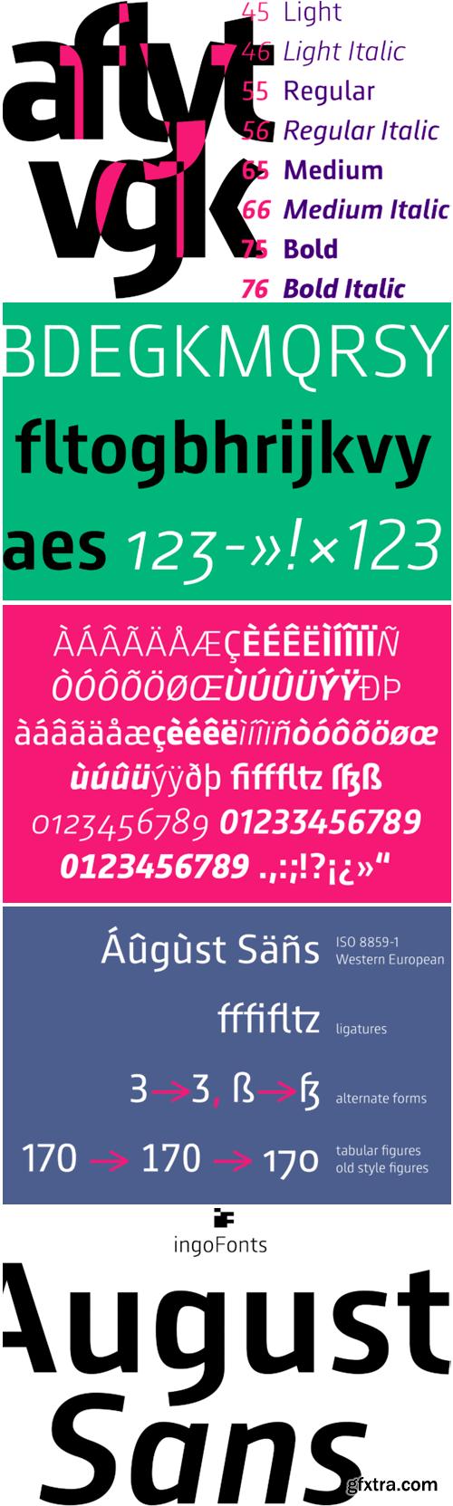 August Sans Font Family
