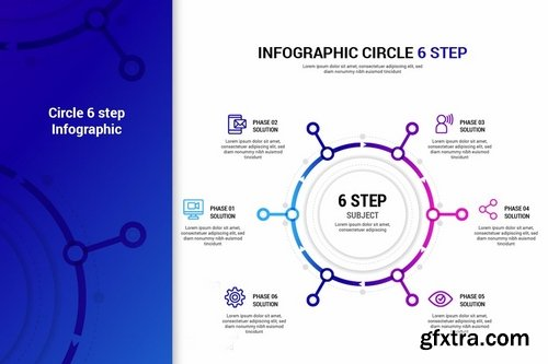 Circle Step infographic