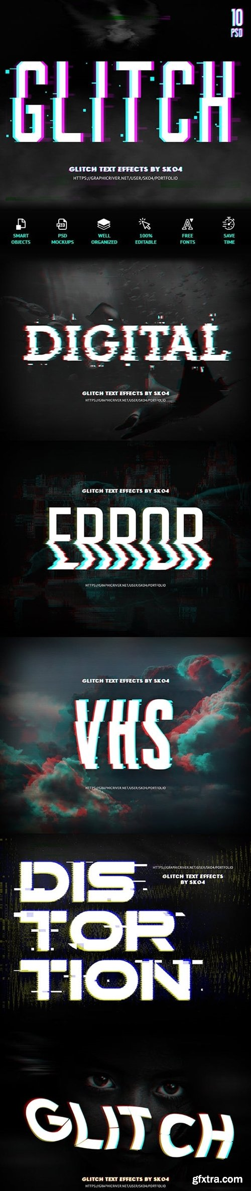 Graphicriver - Glitch Text + Glitch Background FX 22420785