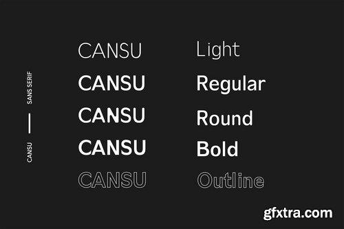CM - Cansu Sans Serif Font Family 3735615