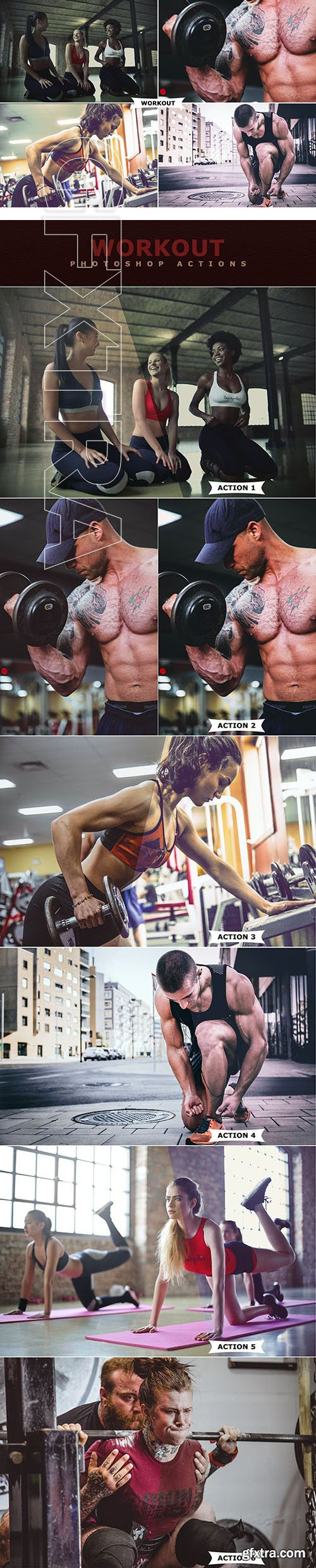 CreativeMarket - Workout Photoshop Actions 3175119