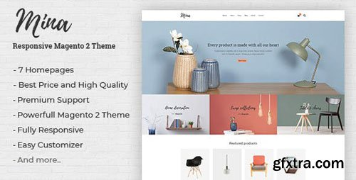ThemeForest - Mina v1.0 - Responsive Furniture, Handmade Shop Magento 2 Theme - 22591129