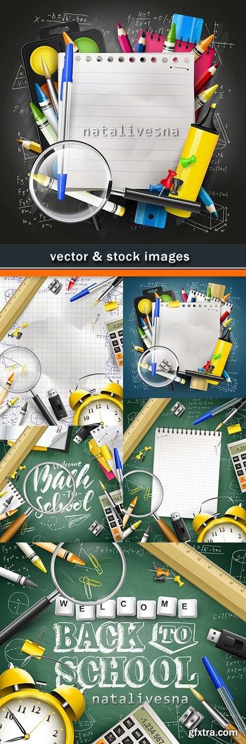 Back to school and accessories element illustration 17
