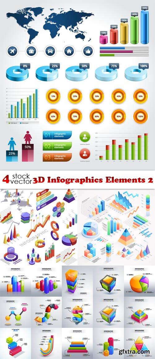 Vectors - 3D Infographics Elements 2
