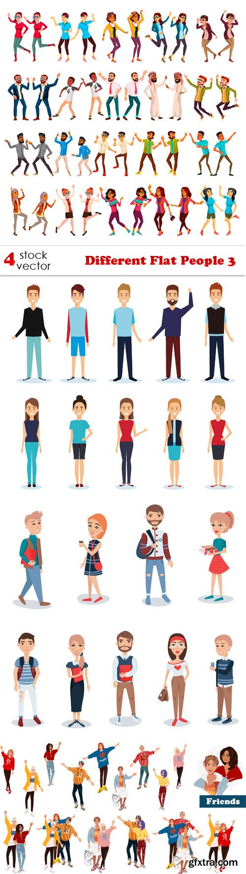 Vectors - Different Flat People 3