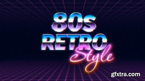 Retro Wave Logo Reveal - After Effects 199836