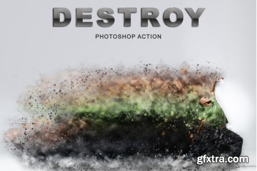 4 in 1 Dispersion Photoshop Actions Pack