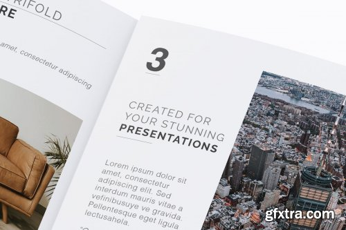 CreativeMarket - Square Trifold Brochure Mockup 04 3414212