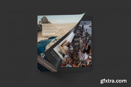 CreativeMarket - Square Trifold Brochure Mockup 03 3414209