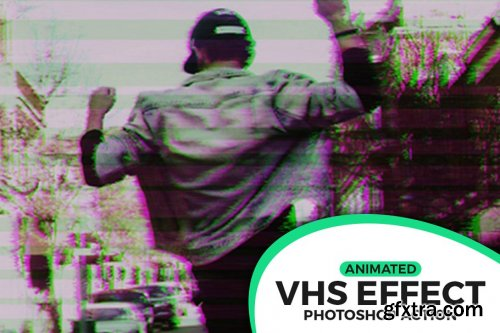 CreativeMarket - Animated VHS Effect Action 3708016