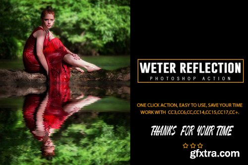 Weter Reflection Photoshop Action