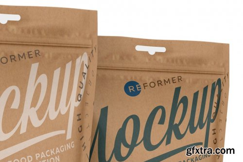 CreativeMarket - Kraft Paper Stand-Up Pouch Mockup 3688245