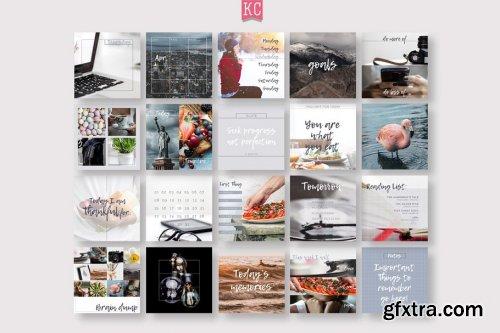 CreativeMarket - Journal Social Media template pack 2588011